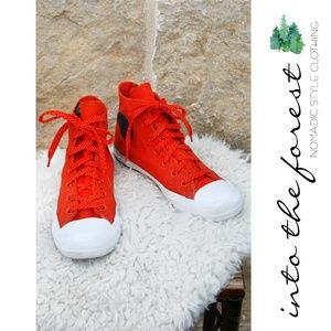 Converse Chuck Taylor Orange Sneakers Shoes Size 7